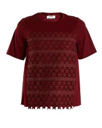 MUVEIL | Star-embroidered Cotton-blend T-shirt | Lyst