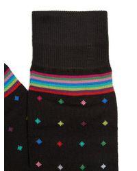 Paul Smith - Black Polka-dot Cotton-blend Socks for Men - Lyst
