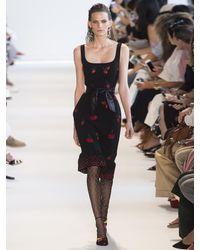 Altuzarra - Black Fria Cherry-embellished Ruffled-hem Dress - Lyst