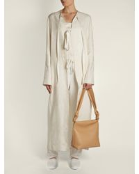 The Row - Natural Wander Small Leather Shoulder Bag - Lyst