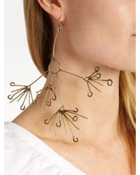 Rosie Assoulin | Metallic Queen Anne's Lace Flower-drop Earring | Lyst