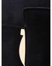 Ferragamo - Blue Thalia Velvet Shoulder Bag - Lyst
