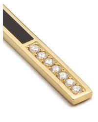 Azlee - Metallic Eclipse Diamond, Enamel & Yellow-gold Earrings - Lyst