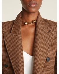 J.W. Anderson - Metallic Double-sphere Gold-plated Choker - Lyst