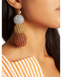 Lucy Folk - Metallic Rock Steady Crochet Earrings - Lyst
