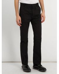 Balenciaga - Black Detachable-panel Cotton Trousers for Men - Lyst