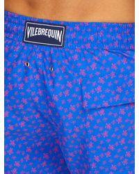 Short de bain imprimé Micro Turtles Moorea Vilebrequin pour homme en coloris Blue