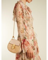 Chloé - Pink Drew Mini Leather And Suede Cross-body Bag - Lyst