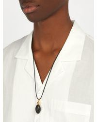 Luis Morais - Black 14kt Gold & Gemstone Pendant Necklace for Men - Lyst