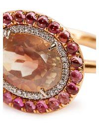 Irene Neuwirth - Pink Diamond, Sunstone, Tourmaline & Rose-gold Ring - Lyst