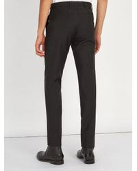 Givenchy - Black Straight-leg Wool-blend Trousers for Men - Lyst