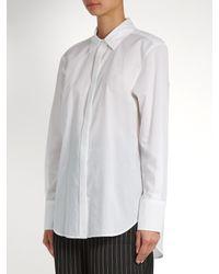 Calvin Klein - White Luka Point-collar Cotton Shirt - Lyst