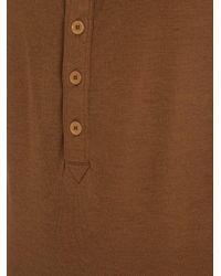 Bottega Veneta - Brown Scoop-neck Silk-blend Tank Top - Lyst