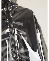 Valentino - Black Translucent Zip Through Jacket - Lyst