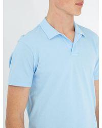 Orlebar Brown - Blue Felix Cotton-waffle Polo Shirt for Men - Lyst