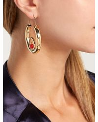 Rosantica By Michela Panero - Metallic Passato Circle Hoop Earrings - Lyst