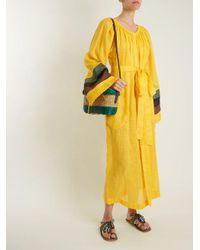 Figue - Multicolor Scaramouche Striped Suede Tassel Sandals - Lyst