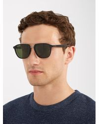 Prada - Black Square-frame Acetate Sunglasses for Men - Lyst