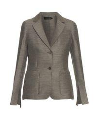 Calvin Klein   Gray Hamlin Single-breasted Wool And Silk-blend Blazer   Lyst