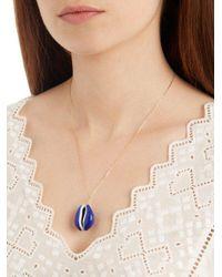Aurelie Bidermann - Blue Merco Shell & Yellow-gold Necklace - Lyst