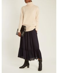 Chloé - Natural Iconic Roll-neck Cashmere Sweater - Lyst