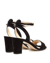 Paul Andrew - Black Eckland Block-heel Suede Sandals - Lyst