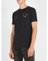 True Religion - Black Buddha-print Cotton-jersey T-shirt for Men - Lyst