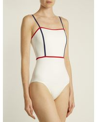 Solid & Striped - Multicolor The Lexi Contrast-trim Swimsuit - Lyst
