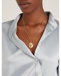 Versace | Metallic Medusa Necklace | Lyst