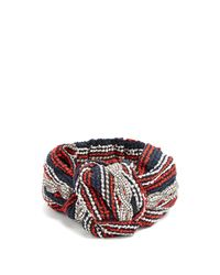 b116421c272bb Gucci Crystal Embellished Striped Headband in Red - Lyst