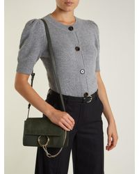 Chloé - Green Faye Small Suede And Leather Shoulder Bag - Lyst