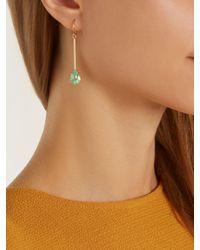 Irene Neuwirth - Metallic Diamond, Emerald & Rose-gold Earring - Lyst
