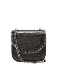 Stella McCartney   Black Falabella Box Mini Crocodile-effect Shoulder Bag   Lyst
