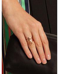Jacquie Aiche - Multicolor Diamond & Rose-gold Ring - Lyst