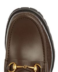 Gucci - Brown Alfons Leather Loafers for Men - Lyst