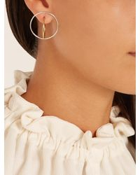 Charlotte Chesnais - Metallic Saturn Medium Silver And Gold-plated Earrings - Lyst