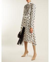 Zimmermann - Multicolor Rife High-neck Pleated Polka-dot Dress - Lyst