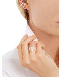 Anissa Kermiche | Multicolor Diamond & Rose-gold Ear Cuffs | Lyst