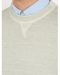 120% Lino - Gray Linen And Cotton-blend Sweatshirt for Men - Lyst