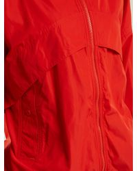 Adidas By Stella McCartney - Red Hooded Nylon Windbreaker Jacket - Lyst