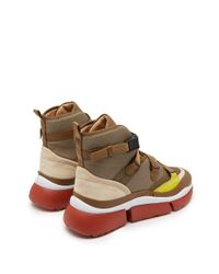 Chloé - Multicolor - Sonnie Raised Sole High Top Trainers - Womens - Khaki - Lyst