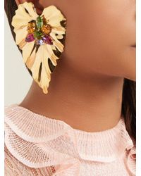 Rodarte - Metallic Gold-plated Mismatched Earrings - Lyst