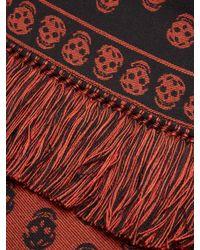 Alexander McQueen - Red Skull-jacquard Wool Scarf for Men - Lyst