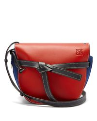 Loewe - Red Gate Leather And Felt Cross Body Bag - Lyst