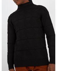 Prada - Black High-neck Wool Sweater for Men - Lyst