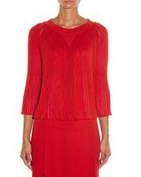 Sonia Rykiel - Multicoloured-insert Pleated Sweater - Lyst