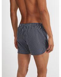 Derek Rose - Blue Royal Striped Cotton Boxer Shorts for Men - Lyst