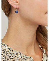 Theodora Warre - Blue Lapis Lazuli Ball Hoop Earrings - Lyst