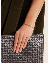 Bottega Veneta - Metallic Intrecciato-engraved Gold-plated Cuff - Lyst
