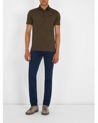 Lanvin - Multicolor Contrasting-collar Cotton-piqué Polo Shirt for Men - Lyst